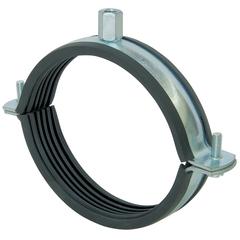 Хомут для воздуховода с резиновым профилем D 225