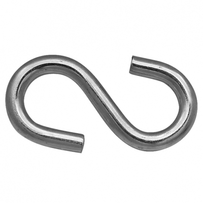 Крюк S-образный оцинкованный 7мм, шт.